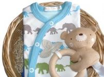 Bunny Rabbit Boys Gift Baby Basket
